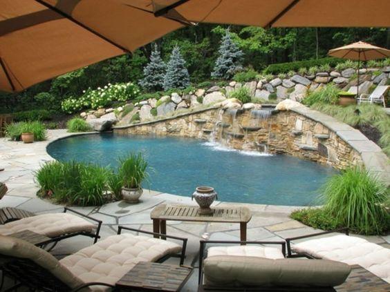 Beautiful rechteck poolgestaltung im garten hohe pflanzenbeete Pool und Garten Pinterest Saunas