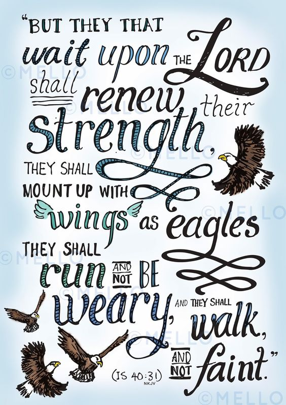 Isaiah 40:31 Postcards!! printed!!