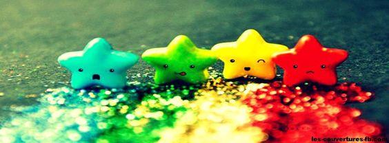 Eoiles Colorées - Photo de couverture Facebook