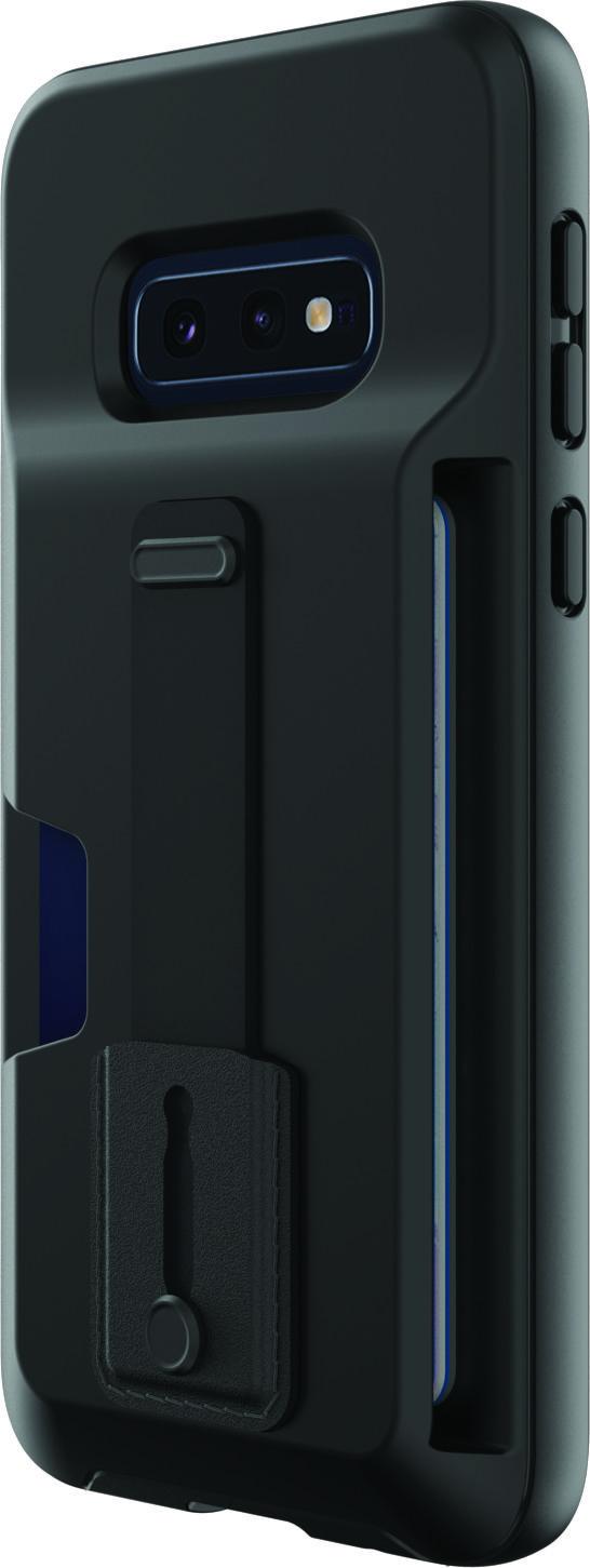 Blackweb Card Pocket Case With Holding Strap And Kickstand For Samsung Galaxy 9 Black Walmart Com Samsung Galaxy 9 Kickstand Samsung