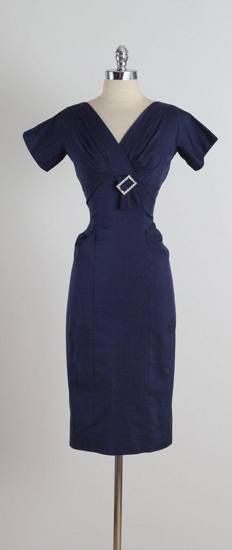 Drinks at Marvel . vintage 1950s dress . by millstreetvintage