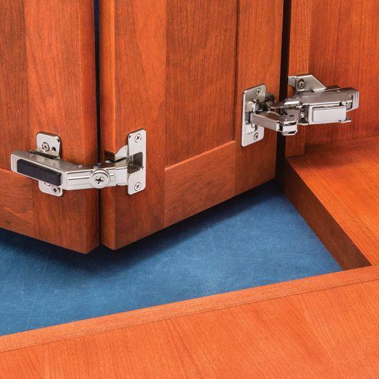 Blum 170 Pie Corner Hinge Kit Face Frame 1 2 Overlay Corner Cabinet Hinges Hinges For Cabinets Kitchen Cabinets Hinges