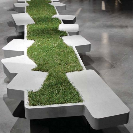 Inventive Planted Stone Seating |:
