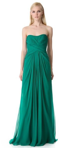 REVEL: Strapless Gown with Crisscross Bodice