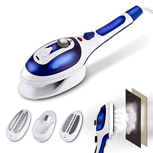 Check Out Xbdus Hand Steamer For Clothing Hanging Flat Steamer And Portable Steam Iron With 2 Removable Brushes Powerful Dry And Fabric Steamer For Travel In 2020 With Images Handheld