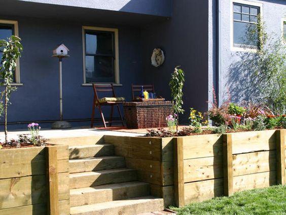 ,,: Side Yard, Front Yard, Wall Pinmydreambackyard, 05 Outdoors, Backyard Walls, Terraced Yards, Multi Level Decks Backyard, Backyard Booya