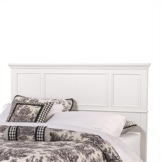 Awesome King Headboard In White With Pillow And Blanket