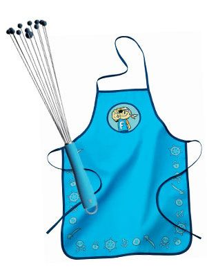 This would make a great gift for a little one who loves to cook and the whisk has silicon ends for safety.