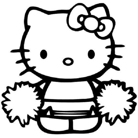 Google Hello Kitty Coloring Pages : Hello kitty coloring pages cheerleader dessin