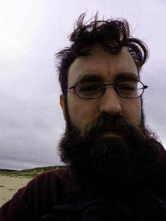 Artist Gareth Bate in Prince Edward Island. #PEI, #PrinceEdwardIsland, #garethbate, #artuntangled, #beard
