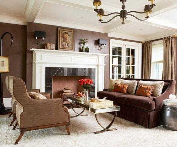 einmaliges wohnzimmer mit schöner wandgestaltung beige und brauen - farbgestaltung wohnzimmer braun