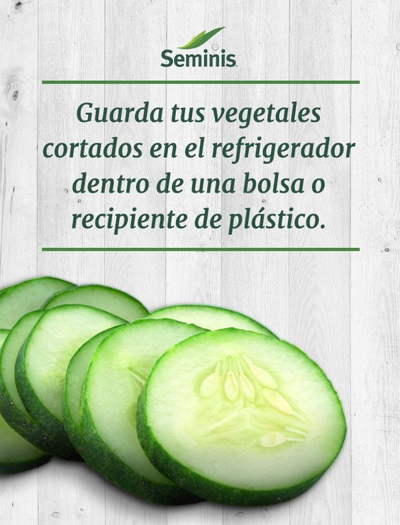 Conserva tus frutas y verduras #Seminis limpias y frescas guardándolas en el refrigerador máximo dos horas después de haberlas cortado.