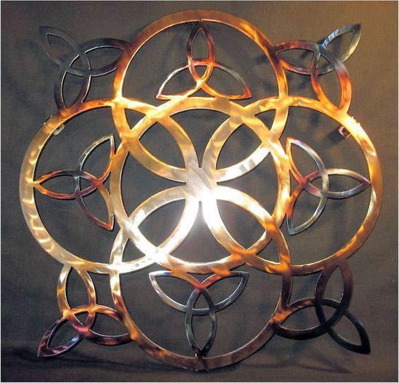 Metal celtic Sculptures f   celtic revival art