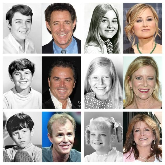 The Brady Bunch -  all the kids now and then!!!