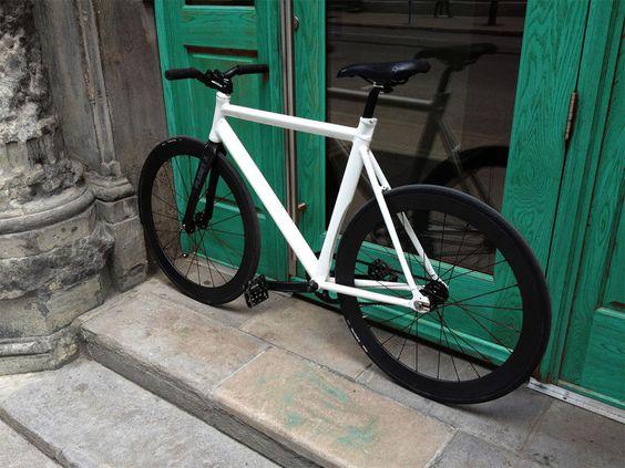 Love the bike, but cool green door too!!