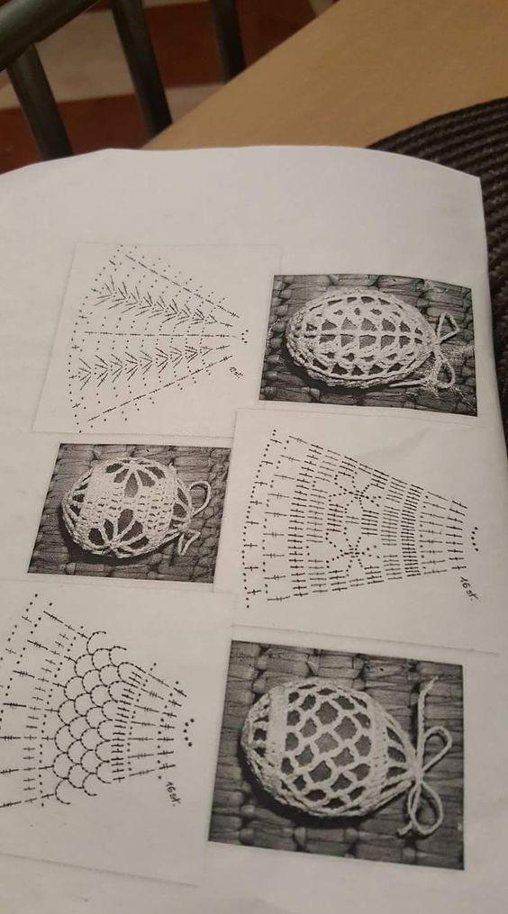 Семь схем обвязки яиц крючком – Artofit
