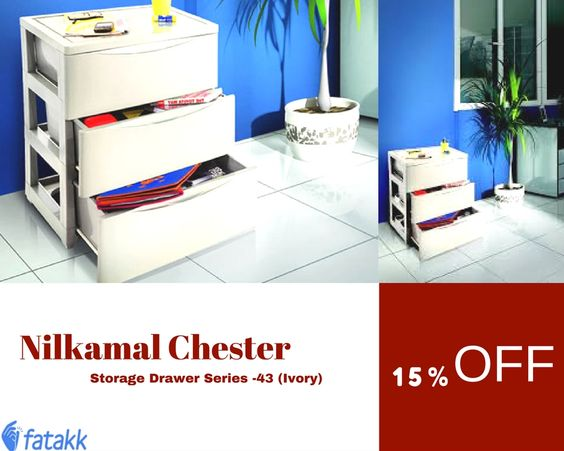 Buy online industrials product such as #nilkamal #chester storage drawer series -43 ivory.