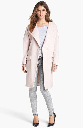 Tildon 'Lofty' Wool Coat | Nordstrom- Coat w/white tee grey jeans