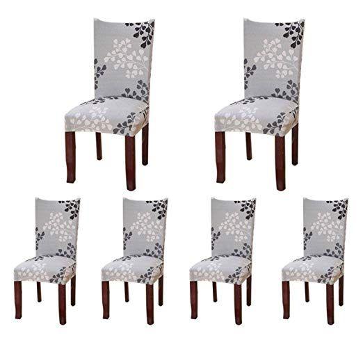 6 X Housse De Chaise Sinderay Universelle Extensible Pour Decoration De Chaise Moderne B Housse De Chaise Decoration De Chaise Chaise Salle A Manger