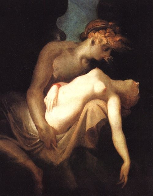 """ Cupid and Psyche   (1810)   ""     by Henry Fuseli  www.artexperiencenyc.com:"