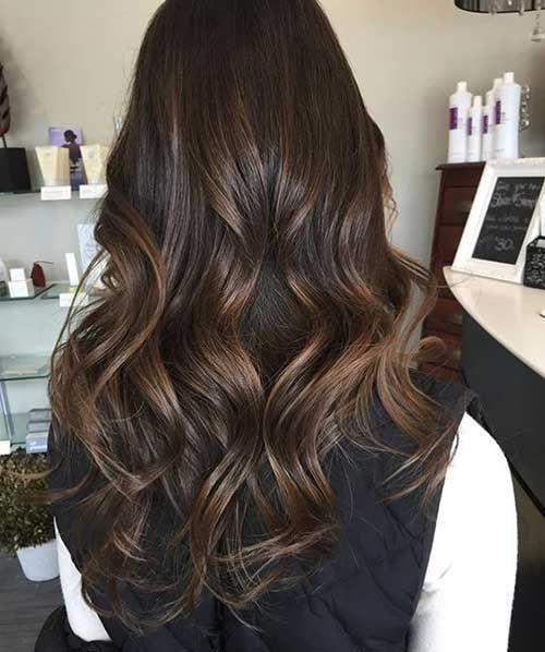 Dunkelbraune Lange Frisuren Frauen Schokoladenbraune