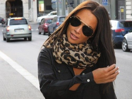 leopard scarf: Rayban, Leopard Print Scarf, Scarf Sunglasses, Fashion Style, Leopard Scarf, Animal Prints, Ray Ban, Hair Color, Leopard Prints