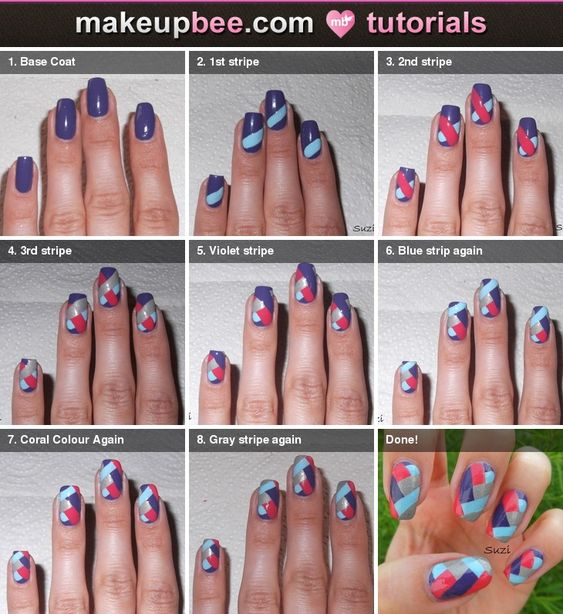 Step-By-Step Tutorial for Braided Nail Design