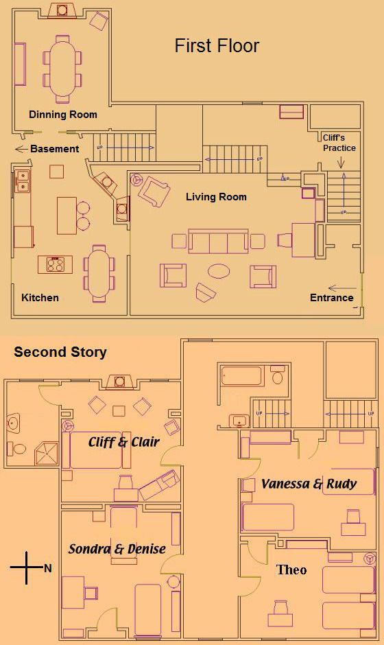 The Cosby House Floor Plan Keep This For Your Records This Is From Wikipedia I Didn T Make This Full Disclosur House Floor Plans Floor Plans House Flooring