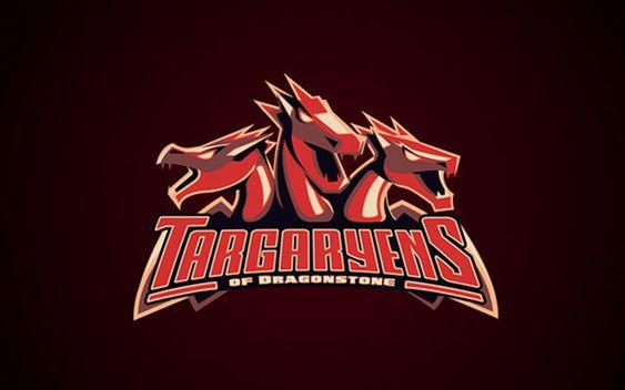 Los Targaryen como logo deportivo gracias a la imaginación y buena mano del artista Yvan Degtyariov