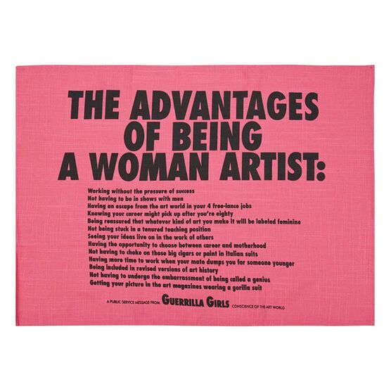 Guerrilla Girls The Advantages Of Being A Woman Artist Tea Towel Homewares Tate Shop Tate In 2020 Female Artists Guerrilla Girls Guerrilla