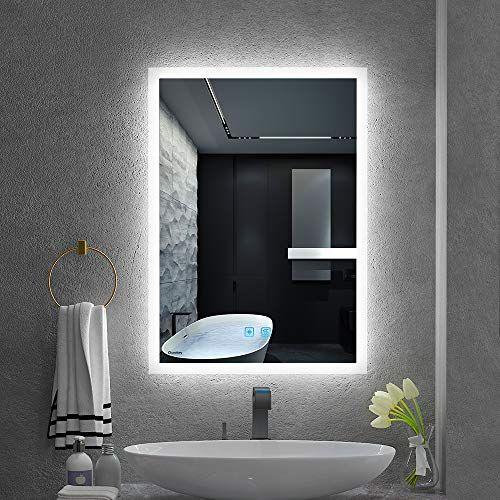 Quavikey Led Illuminated Bathroom Mirrors Wall Mounted With Lights
