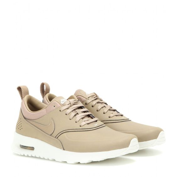 Nike - Nike Air Max Thea Premium leather sneakers - Whether you\u0026#39;re running for fitness or racing around the city, Nike\u0026#39;s leather sneakers are a beloved ...