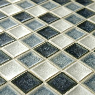 SomerTile 11.625x11.625-in Crackle Square Azure 1-in Handmade Glass/Ceramic Mosaic Tile (Pack of 5) | Overstock.com Shopping - Big Discounts...