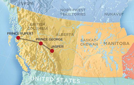 The VIA Rail Skeena train travels from Jasper to Prince Rupert | Canada  vacation, Prince rupert, Via rail