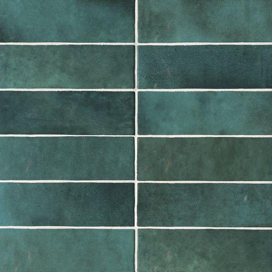 Cloe 2 5 X 8 Wall Tile In Green Cloe Relooking Et Carrelage Parquet