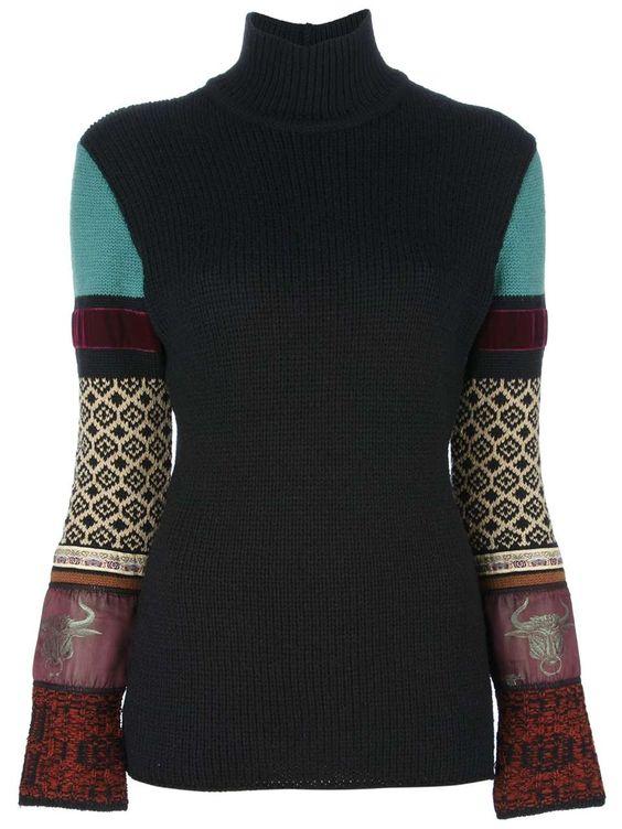 girls-vintage-fashion:  JEAN PAUL GAULTIER VINTAGE applique knit jumper