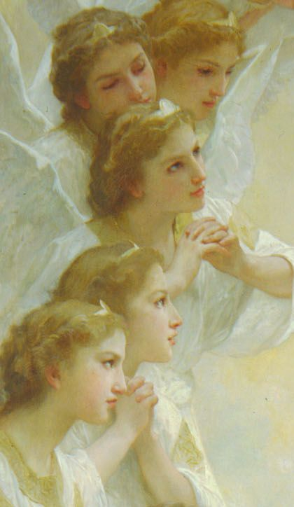 Detail of Angels,William Adolphe Bouguereau: