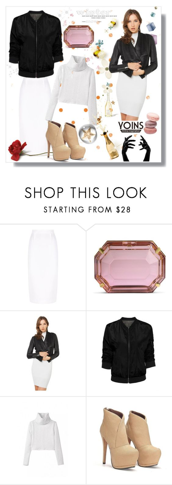 """""""yoins"""" by bellamonica ❤ liked on Polyvore featuring Roland Mouret, Charlotte Olympia, Akira Black Label, women's clothing, women, female, woman, misses, juniors and yoins"""