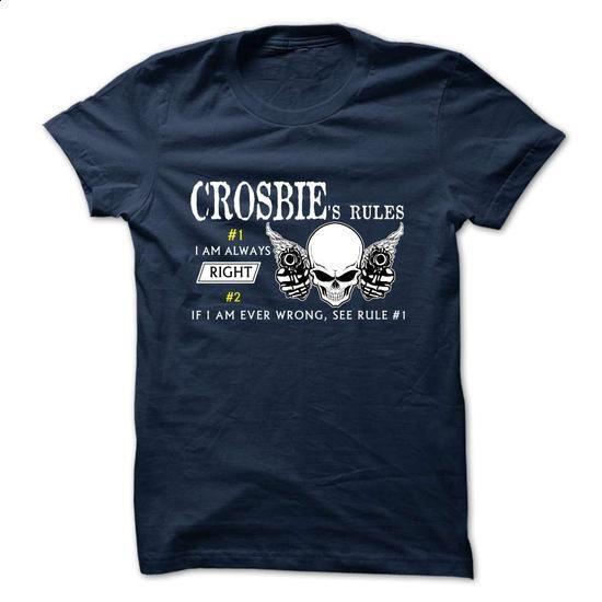 funny CROSBIE Rule Team - #pullover sweatshirt #university sweatshirt. CHECK PRICE => https://www.sunfrog.com/Valentines/funny-CROSBIE-Rule-Team.html?68278