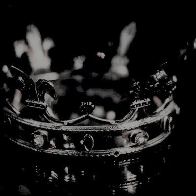 moody mood board inspiration, dark atmosphere and silver crown.