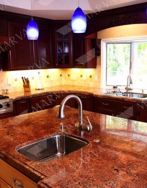 Diamond Red Granite Designs Marva Marble And Granite Granite Countertops Kitchen Red Granite Countertops Granite Kitchen