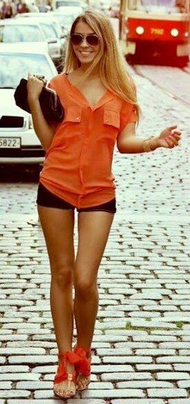 image Long legs shorts tats amp cheeks