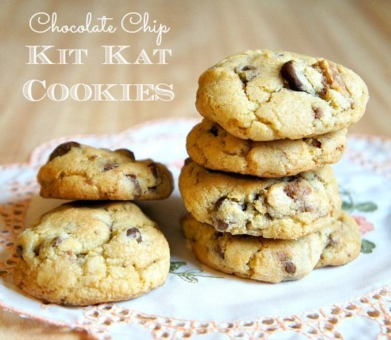 kit kat cookies chocolate chips chips cookies chocolate recipe cookie ...