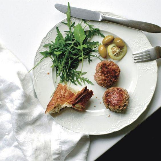 Lamb Sausage Patties with Fresh Mint, Feta, and Garlic