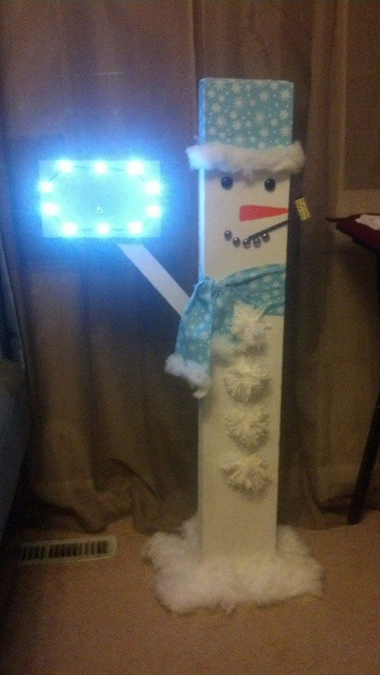 Customized Outdoor Snowman Decoration Lighted by CreationsByTooke, $50.00