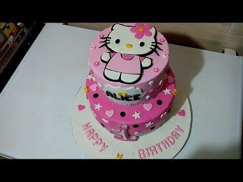 كيك ديزاين هيلو كيتي بكل التفاصيل Cake Design Hello Kitty De A A Z Youtube Cake Birthday Cake Birthday