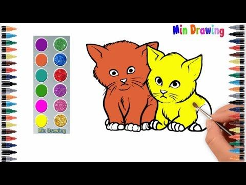 Youtube Drawing For Kids Cartoon Coloring Pages Cartoon Cat