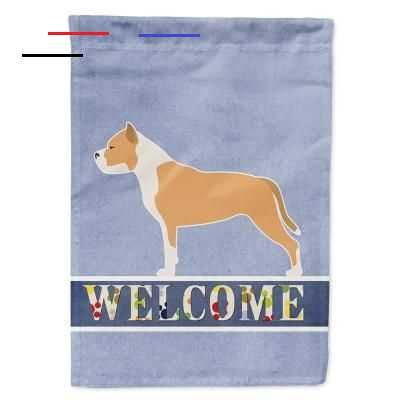 Caroline S Treasures 28 In X 40 In Polyester Staffordshire Bull Terrier Welcome Flag Canvas House Size 2 Sided Heavyweight Bb5558chf The Home Depot