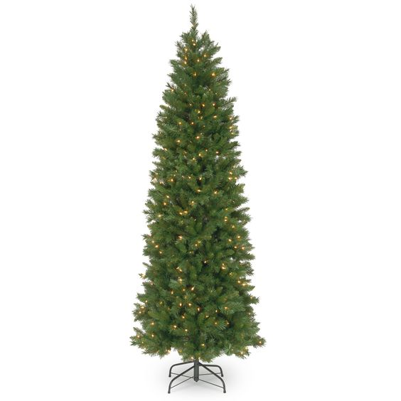 7.5 ft. Pennington Fir Pencil Tree with Clear Lights by National Tree Company