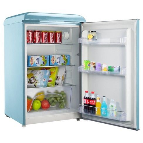 Make A Statement With The Galanz 4 4 Cu Ft Retro Refrigerator This Refrigerator Is A Cool Addition To Any Retro Refrigerator Mini Fridge Cool Things To Buy